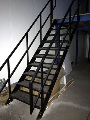 new stairs in place